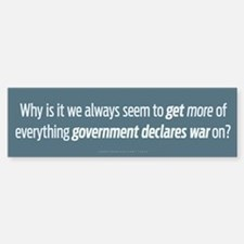 Government Wars Bumper Bumper Bumper Sticker