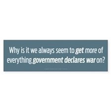 Government Wars Bumper Bumper Sticker