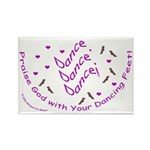 Dancing Feet Rectangle Magnet (10 pack)