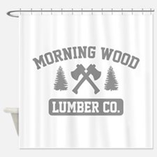 Morning Wood Lumber Co. Shower Curtain