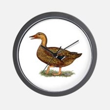 Mallard Duck Hen Wall Clock