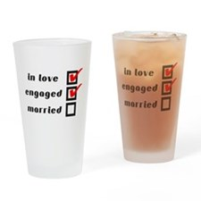 Engaged Drinking Glass