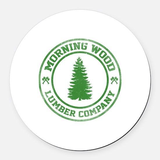 Morning Wood Lumber Co. Round Car Magnet