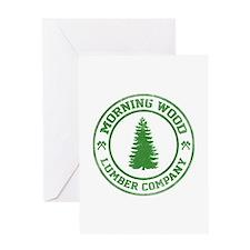 Morning Wood Lumber Co. Greeting Card