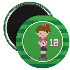 Soccer Sports Number 12 Magnet