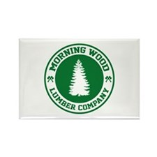 Morning Wood Lumber Co. Rectangle Magnet