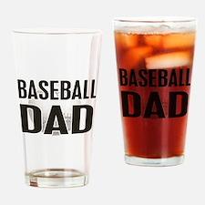 Baseball Dad Drinking Glass