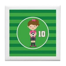 Soccer Sports Number 10 Tile Coaster