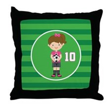Soccer Sports Number 10 Throw Pillow