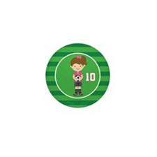 Soccer Sports Number 10 Mini Button