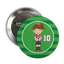 "Soccer Sports Number 10 2.25"" Button"