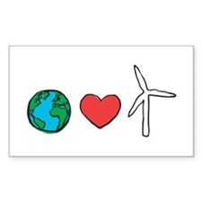 Earth Loves Wind Decal