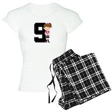 Soccer Sports Number 9 Pajamas