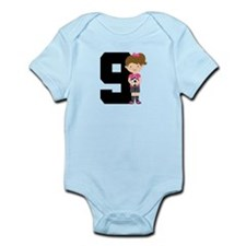 Soccer Sports Number 9 Infant Bodysuit