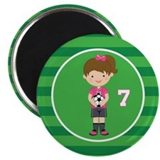 Soccer Sports Number 7 Magnet