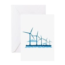Offshore Wind Farm Greeting Card
