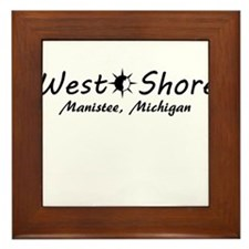 West Shore - Manistee, Michigan Framed Tile