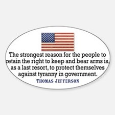Jefferson 2nd Amendment Decal