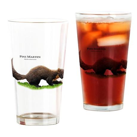 Pine Marten Drinking Glass