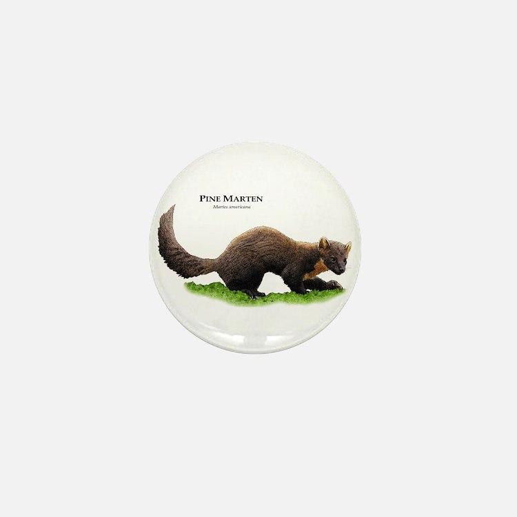 Pine Marten Mini Button
