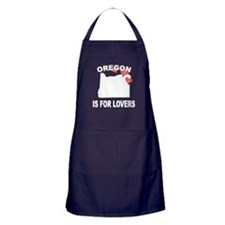 Oregon Is For Lovers Apron (dark)