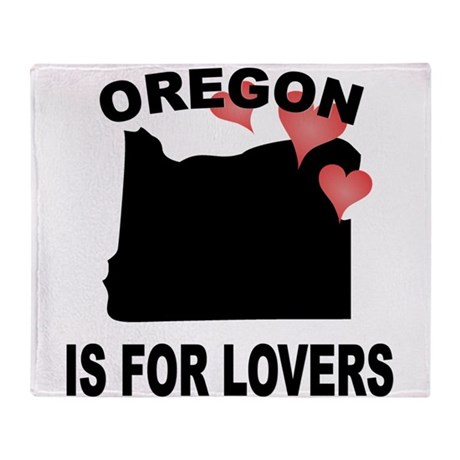 Oregon Is For Lovers Throw Blanket