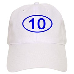 Number 10 Oval Baseball Cap