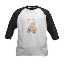 Navy Brat Baby Girl (Pink) Baseball Jersey