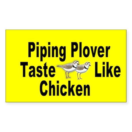 Oval Piping Plover Taste Like Chicken Sticker