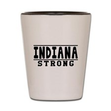 Indiana Strong Designs Shot Glass