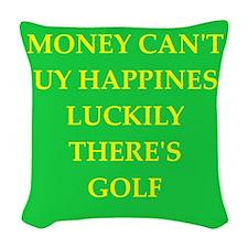 golf Woven Throw Pillow