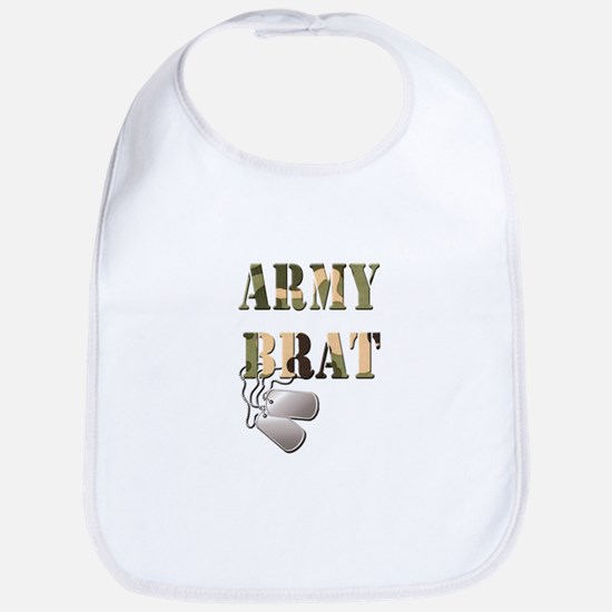 Army Brat Dog Tags Bib