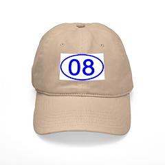 Number 08 Oval Baseball Cap