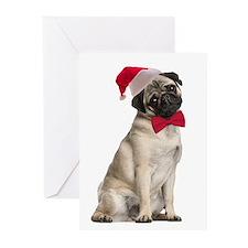 Santa Pug Christmas Cards (Pk of 10)