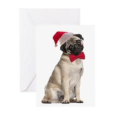 Santa Pug Christmas Card