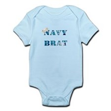 Navy Brat Text (Blue Camo) Body Suit