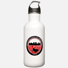 El paso logo black and red Water Bottle