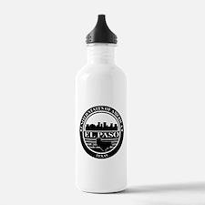El paso logo black and white Water Bottle
