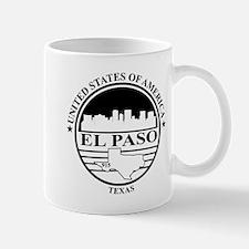 El Paso logo white and black Mug
