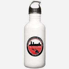 Grand rapids logo black and red Water Bottle