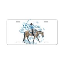 Western Pleasure Shine On Aluminum License Plate