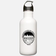 Houston logo white and black Water Bottle