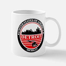 Detroit logo black and red Mug