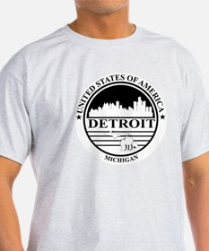Detroit logo white and black T-Shirt