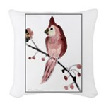 Cardinal Woven Throw Pillow