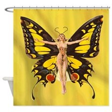 Butterfly Nouveau Shower Curtain