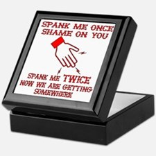 Spank Me Once…..Twice Keepsake Box