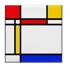'Modern Art' Tile Coaster
