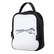 Leaping English Setter Neoprene Lunch Bag