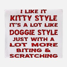 I Like It Kitty Style Throw Blanket
